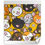 Cats pattern Canvas 20  x 24   24 x20 Canvas - 1