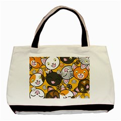 Cats Pattern Basic Tote Bag (two Sides) by Valentinaart