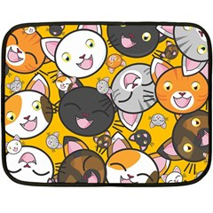 Cats Pattern Double Sided Fleece Blanket (mini)  by Valentinaart