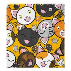 Cats Pattern Shower Curtain 66  X 72  (large)  by Valentinaart