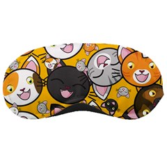 Cats Pattern Sleeping Masks by Valentinaart