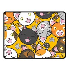 Cats Pattern Fleece Blanket (small) by Valentinaart