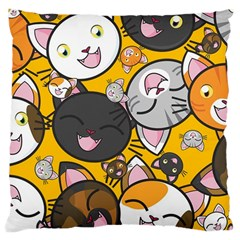 Cats Pattern Large Cushion Case (one Side) by Valentinaart