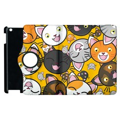 Cats Pattern Apple Ipad 2 Flip 360 Case by Valentinaart