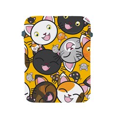 Cats Pattern Apple Ipad 2/3/4 Protective Soft Cases by Valentinaart