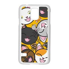 Cats Pattern Samsung Galaxy S5 Case (white) by Valentinaart