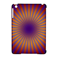 Retro Circle Lines Rays Orange Apple Ipad Mini Hardshell Case (compatible With Smart Cover) by Amaryn4rt