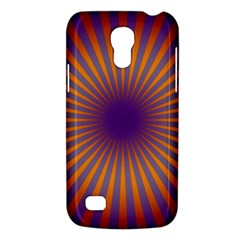 Retro Circle Lines Rays Orange Galaxy S4 Mini by Amaryn4rt