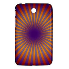 Retro Circle Lines Rays Orange Samsung Galaxy Tab 3 (7 ) P3200 Hardshell Case  by Amaryn4rt