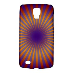 Retro Circle Lines Rays Orange Galaxy S4 Active by Amaryn4rt