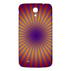 Retro Circle Lines Rays Orange Samsung Galaxy Mega I9200 Hardshell Back Case by Amaryn4rt