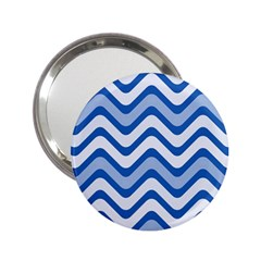 Waves Wavy Lines Pattern Design 2 25  Handbag Mirrors by Amaryn4rt