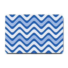 Waves Wavy Lines Pattern Design Small Doormat  by Amaryn4rt
