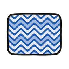 Waves Wavy Lines Pattern Design Netbook Case (small)  by Amaryn4rt