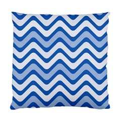 Waves Wavy Lines Pattern Design Standard Cushion Case (two Sides) by Amaryn4rt