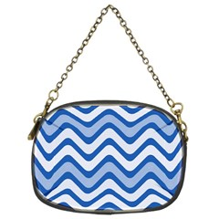 Waves Wavy Lines Pattern Design Chain Purses (two Sides)  by Amaryn4rt