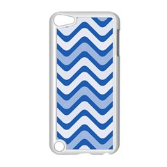 Waves Wavy Lines Pattern Design Apple Ipod Touch 5 Case (white) by Amaryn4rt