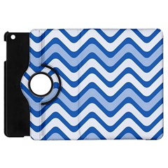 Waves Wavy Lines Pattern Design Apple Ipad Mini Flip 360 Case