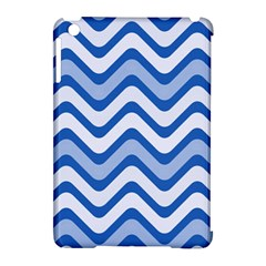 Waves Wavy Lines Pattern Design Apple Ipad Mini Hardshell Case (compatible With Smart Cover) by Amaryn4rt