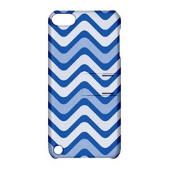 Waves Wavy Lines Pattern Design Apple Ipod Touch 5 Hardshell Case With Stand by Amaryn4rt