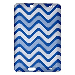 Waves Wavy Lines Pattern Design Amazon Kindle Fire Hd (2013) Hardshell Case by Amaryn4rt