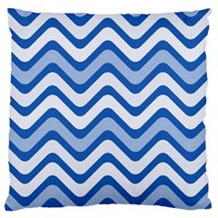 Waves Wavy Lines Pattern Design Standard Flano Cushion Case (one Side) by Amaryn4rt