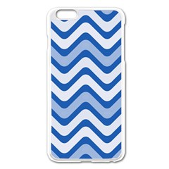 Waves Wavy Lines Pattern Design Apple Iphone 6 Plus/6s Plus Enamel White Case by Amaryn4rt