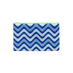 Waves Wavy Lines Pattern Design Cosmetic Bag (xs) by Amaryn4rt