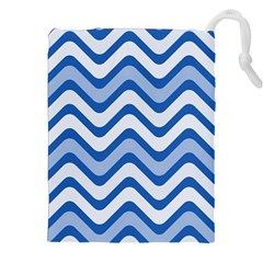 Waves Wavy Lines Pattern Design Drawstring Pouches (xxl) by Amaryn4rt