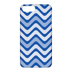 Waves Wavy Lines Pattern Design Apple Iphone 7 Plus Hardshell Case by Amaryn4rt