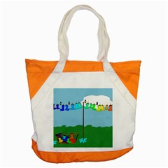 Welly Boot Rainbow Clothesline Accent Tote Bag by Amaryn4rt