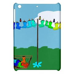 Welly Boot Rainbow Clothesline Apple Ipad Mini Hardshell Case by Amaryn4rt