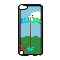Welly Boot Rainbow Clothesline Apple Ipod Touch 5 Case (black) by Amaryn4rt