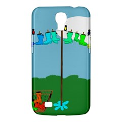 Welly Boot Rainbow Clothesline Samsung Galaxy Mega 6 3  I9200 Hardshell Case by Amaryn4rt