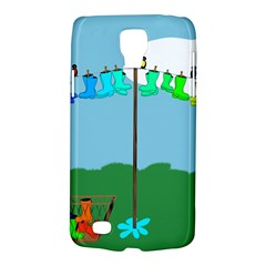 Welly Boot Rainbow Clothesline Galaxy S4 Active by Amaryn4rt