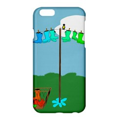 Welly Boot Rainbow Clothesline Apple Iphone 6 Plus/6s Plus Hardshell Case by Amaryn4rt