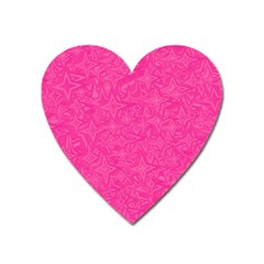 Geometric Pattern Wallpaper Pink Heart Magnet by Amaryn4rt