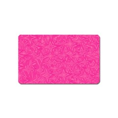 Geometric Pattern Wallpaper Pink Magnet (name Card) by Amaryn4rt
