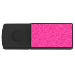 Geometric Pattern Wallpaper Pink Usb Flash Drive Rectangular (4 Gb) by Amaryn4rt