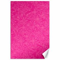 Geometric Pattern Wallpaper Pink Canvas 24  X 36  by Amaryn4rt