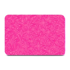 Geometric Pattern Wallpaper Pink Plate Mats by Amaryn4rt
