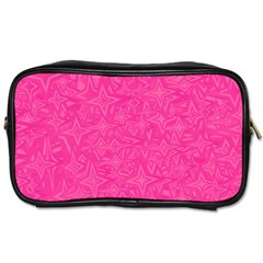 Geometric Pattern Wallpaper Pink Toiletries Bags 2 Side by Amaryn4rt