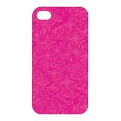 Geometric Pattern Wallpaper Pink Apple Iphone 4/4s Hardshell Case by Amaryn4rt