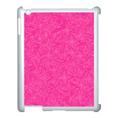 Geometric Pattern Wallpaper Pink Apple Ipad 3/4 Case (white) by Amaryn4rt