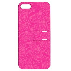 Geometric Pattern Wallpaper Pink Apple Iphone 5 Hardshell Case With Stand by Amaryn4rt