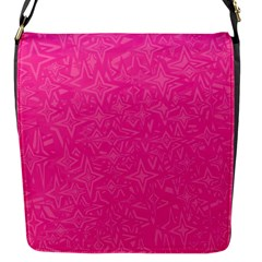 Geometric Pattern Wallpaper Pink Flap Messenger Bag (s) by Amaryn4rt