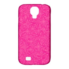 Geometric Pattern Wallpaper Pink Samsung Galaxy S4 Classic Hardshell Case (pc+silicone) by Amaryn4rt