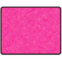 Geometric Pattern Wallpaper Pink Double Sided Fleece Blanket (medium)  by Amaryn4rt