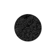 Black Rectangle Wallpaper Grey Golf Ball Marker (10 Pack) by Amaryn4rt