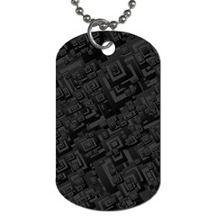 Black Rectangle Wallpaper Grey Dog Tag (two Sides) by Amaryn4rt